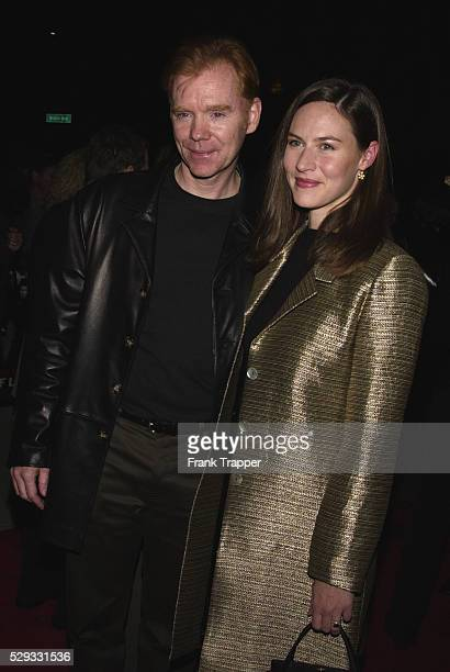Arrival of actor David Caruso who costars in the film Here he is seen with Margaret Buckley