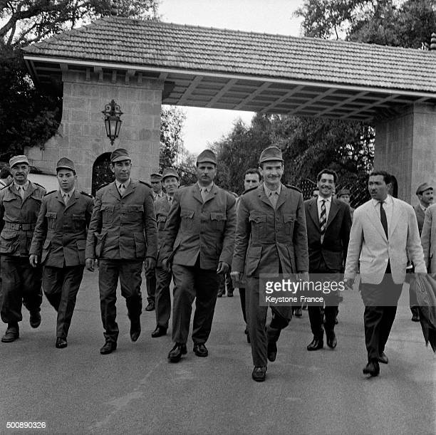 Arrival of Ahmed Ben Bella and Algerian leaders after release here the leaders of the National Liberation Army in front of Dar es Salam Palace in...