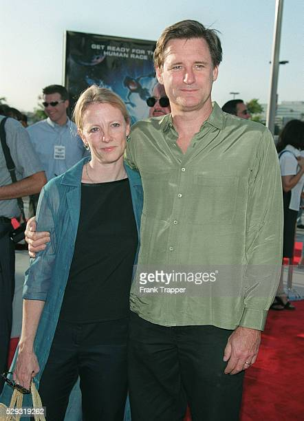 Arrival of Bill Pullman with his wife Tamara