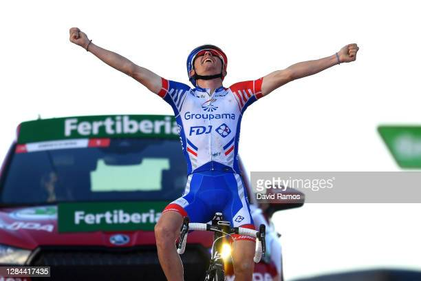Arrival / of France and Team Groupama - FDJ / Celebration / during the 75th Tour of Spain 2020, Stage 17 a 178,2km stage from Sequeros to Alto de la...