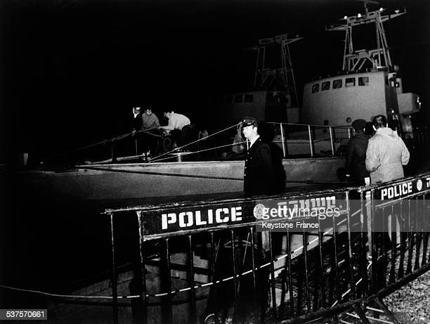 Arrival of French boats in the Haifa port, Israel on January 1, 1970.