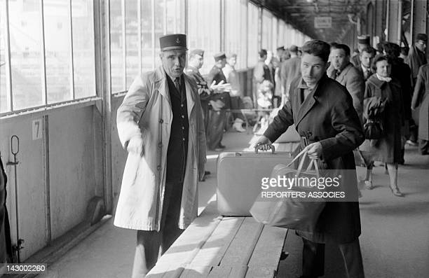Arrival of French civilians and militaries from Algeria in Marseille France in May 1962