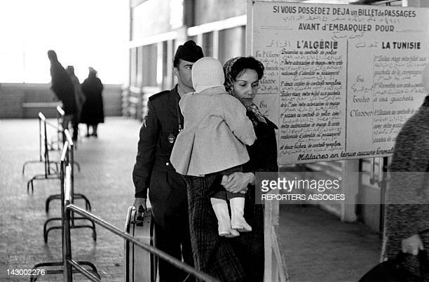 Arrival of French civilians and militaries from Algeria, in Marseille, France in May 1962.