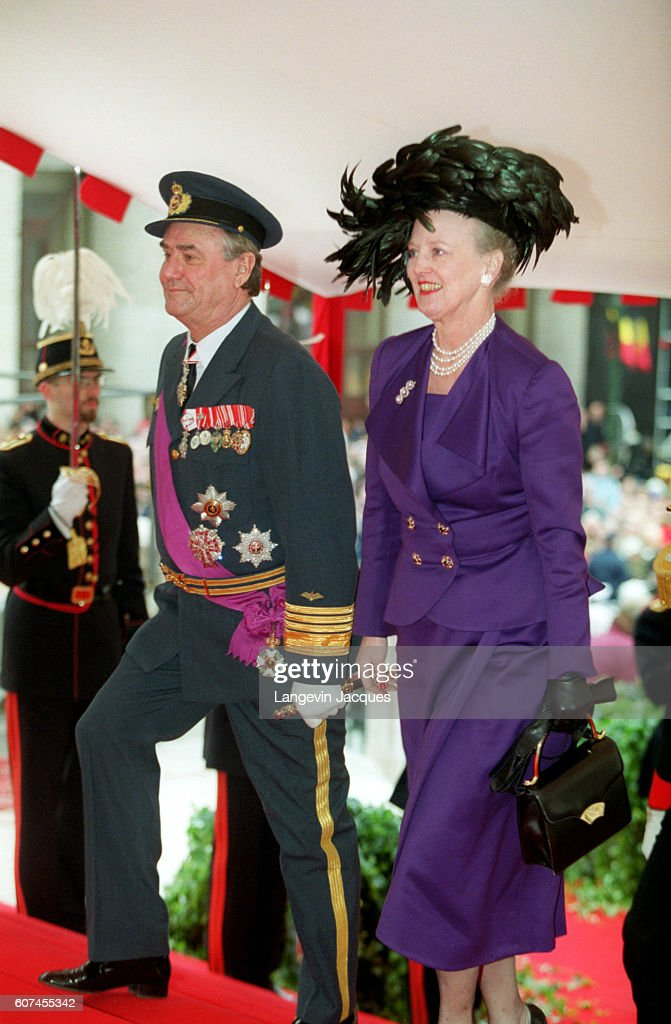 Arrival of Henrik and Margrethe of Denmark at the St Michel Ste Gudule Cathedral.
