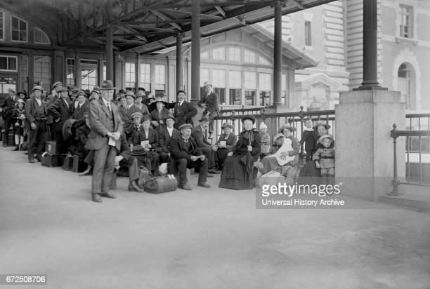Arrival of Immigrants Awaiting Examination Ellis Island New York City New York USA Bain News Service 1920