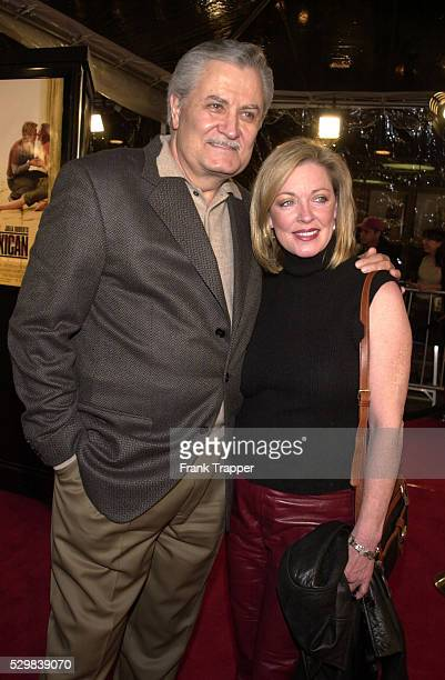 Arrival of John Aniston who is the father of Jennifer Aniston seen here with his wife Sherry Rooney