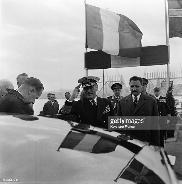 Arrival Of King Olav V Of Norway In Le Havre France on May 25 1962