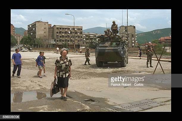 Arrival of Leclerc tanks in Mitrovica.