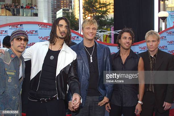Arrival of members of the band 'Backstreet Boys'