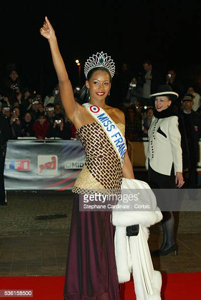 Arrival of Miss France 2003 Corinne Coman