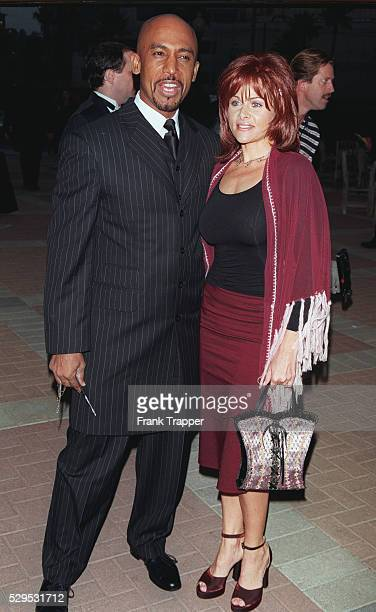 Arrival of Montel Williams with his wife Grace