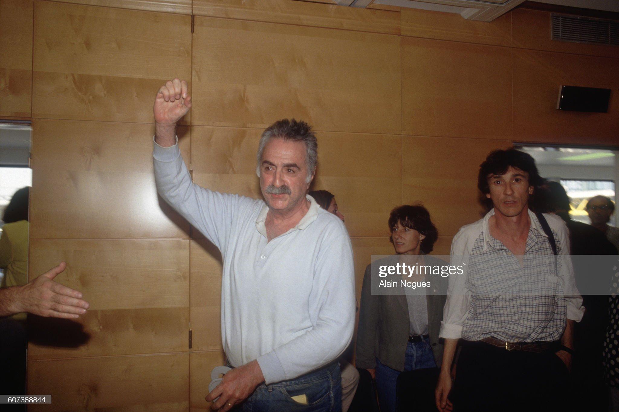 Political Prisoner Abraham Serfati Arrives at Orly Airport : News Photo