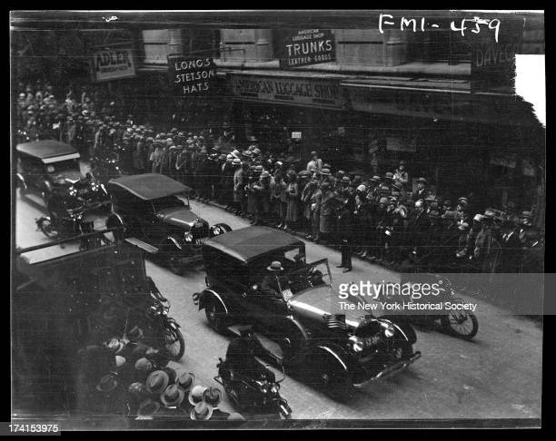 Arrival of Queen Marie of Roumania at the Battery and Cortlandt Street, New York, New York, October 1926.