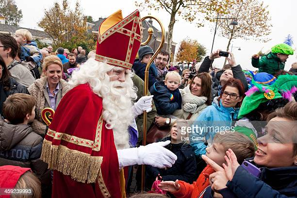 arrival of sinterklaas  5 xxl - st. nicholas stock photos and pictures