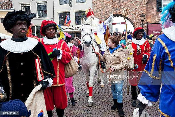 arrival of sinterklaas # 11 xl - sinterklaas stock photos and pictures