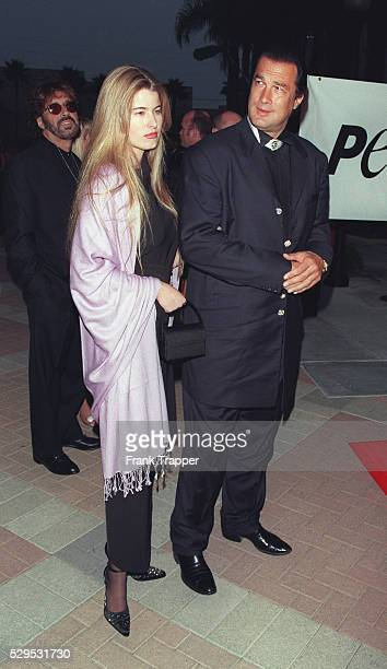 Arrival of Steven Seagal with his wife Arissa