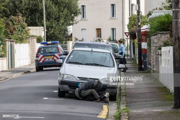 OUISTREHAM CALVADOS FRANCE SEPTEMBER 30 Arrival of Sudaneses migrants from Darfur to Ouistreham a smal seaside resort in Normandy France on September...