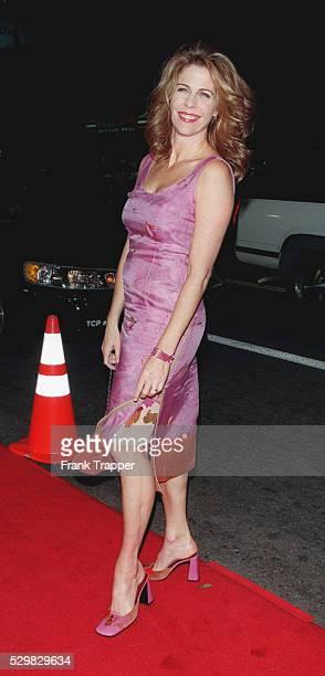 Arrival of the actress Rita Wilson