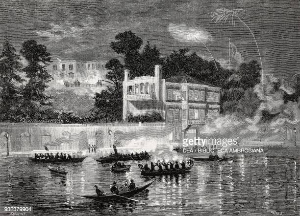 Arrival of the British ambassador Frederick HamiltonTempleBlackwood 1st Marquess of Dufferin and his wife at the Italian Embassy in Istanbul Turkey...