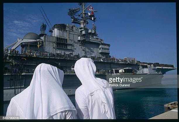 Arrival of the Clemenceau Aircraft Carrier