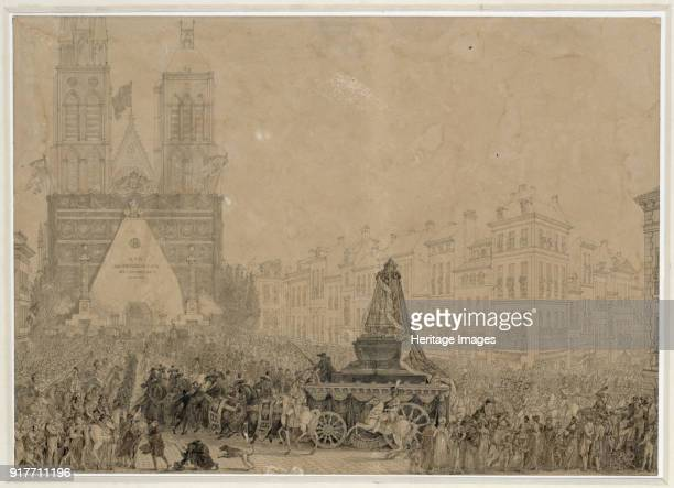 Arrival of the funeral procession with the remains of Louis XVI and MarieAntoinette in SaintDenis on 21 January 1815 Found in the Collection of Musée...