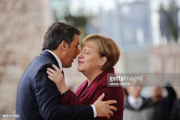 Arrival of the Italian Prime Minister Matteo Renzi German Chancellor Angela Merkel welcomes the US President and four Heads of State and Government...
