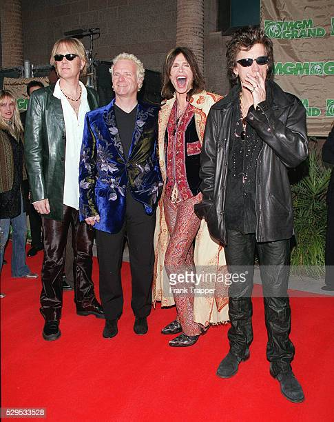 Arrival of the rock band Aerosmith