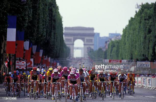 Arrival Of Tour De France On ChampsElysees On July 21st 1996 In ParisFrance