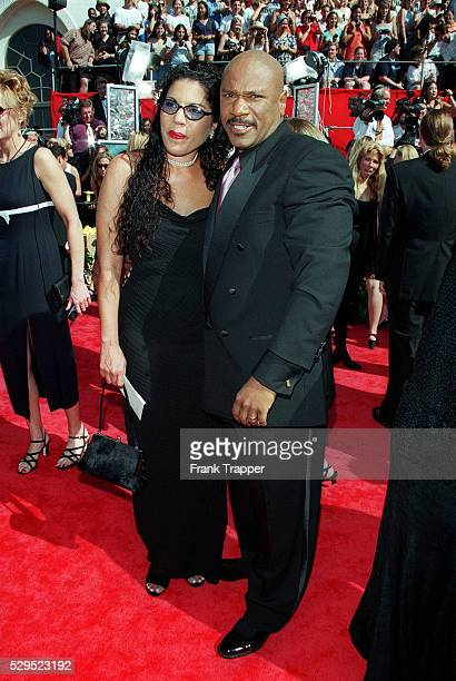 Arrival of Ving Rhames and his wife Valerie