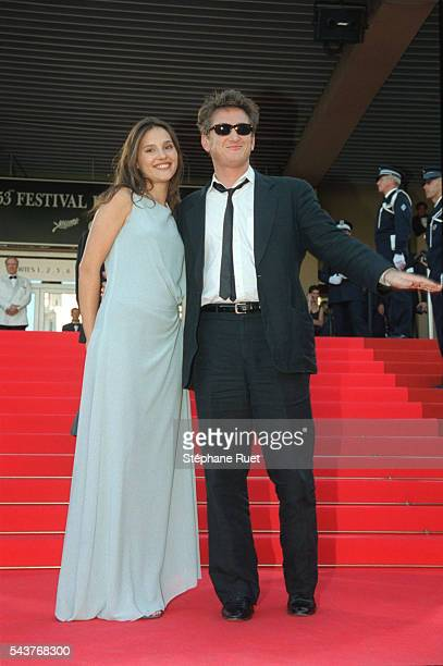 Arrival of Virginie Ledoyen Sean Penn