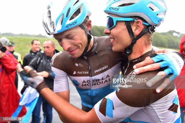 Arrival / Oliver Naesen of Belgium and Team AG2R La Mondiale / Benoit Cosnefroy of France and Team AG2R La Mondiale / Celebration / during the 82nd...