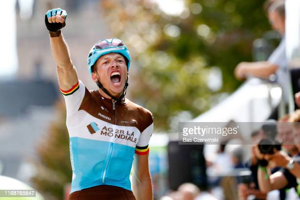 Arrival / Oliver Naesen of Belgium and Team AG2R La Mondiale / Celebration / during the 15th Binck Bank Tour 2019 Stage 7 a 1781km stage from...