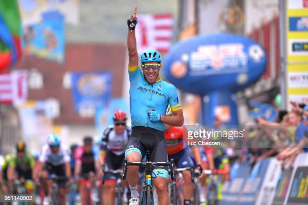 Arrival / Omar Fraile Matarranza of Spain and Astana Pro Team / Celebration / during the 72nd Tour de Romandie 2018 Stage 1 a 1666km stage from...