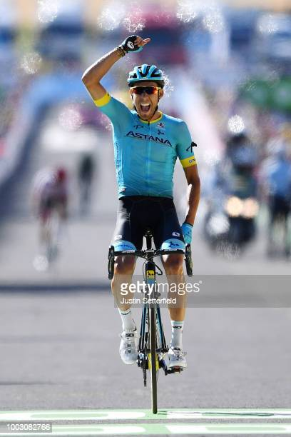 Arrival / Omar Fraile of Spain and Astana Pro Team / Celebration / during the 105th Tour de France 2018 Stage 14 a 188km stage from...