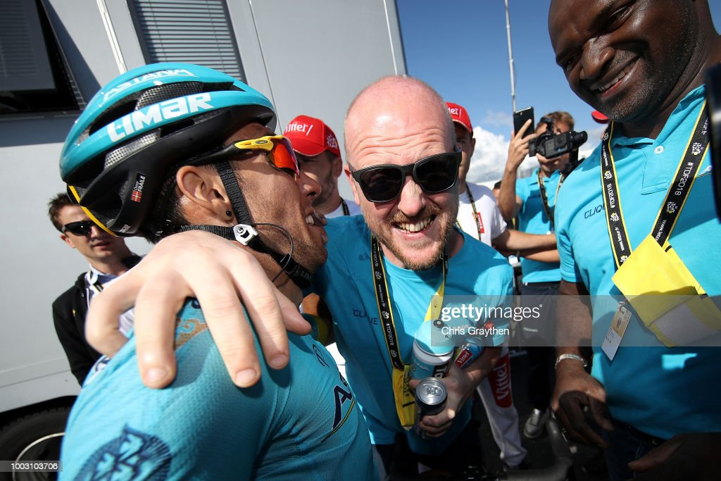 Arrival / Omar Fraile of Spain and Astana Pro Team / Celebration / during the 105th Tour de France 2018, Stage 14 a 188km stage from Saint-Paul-Trois-Chateaux to Mende 1030m / TDF / on July 21, 2018 in Mende, France.