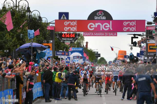 Arrival / Pascal Ackermann of Germany and Team Bora - Hansgrohe Disappointment / Damiano Cima of Italy and Team Nippo Vini Fantini - Faizane...