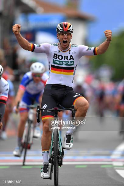 Arrival / Pascal Ackermann of Germany and Team Bora - Hansgrohe / Celebration / during the 102nd Giro d'Italia 2019, Stage 2 a 205km stage from...