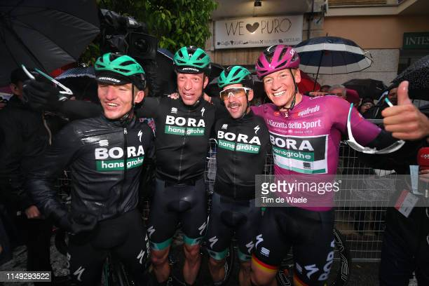 Arrival / Pascal Ackermann of Germany and Team Bora - Hansgrohe Purple Points Jersey / Jay Mccarthy of Australia and Team Bora - Hansgrohe / Rudiger...