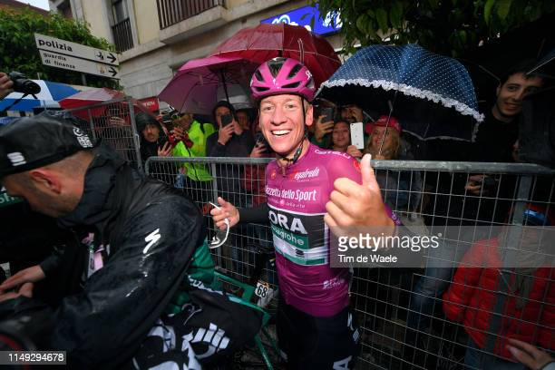Arrival / Pascal Ackermann of Germany and Team Bora - Hansgrohe Purple Points Jersey / Celebration / during the 102nd Giro d'Italia 2019, Stage 5 a...