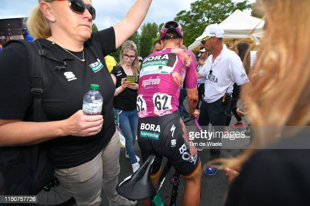 Arrival / Pascal Ackermann of Germany and Team Bora - Hansgrohe Purple Points Jersey / Injury / Crash / during the 102nd Giro d'Italia 2019, Stage 10...