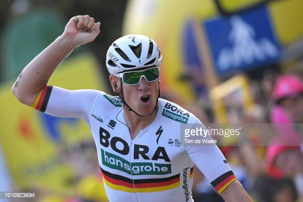 Arrival / Pascal Ackermann of Germany and Team Bora-Hansgrohe / Celebration / during the 75th Tour of Poland 2018, Stage 1 a 133,7km stage from...