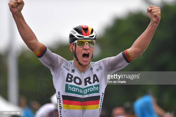 Arrival / Pascal Ackermann of Germany and Team Bora-Hansgrohe / Celebration / during the 2nd Tour of Guangxi 2018, Stage 2 a 145,2km stage from...