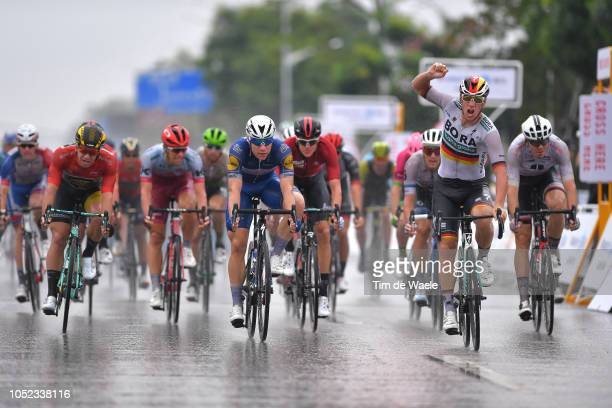 Arrival / Pascal Ackermann of Germany and Team BoraHansgrohe / Celebration / Fabio Jakobsen of The Netherlands and Team QuickStep Floors / Dylan...