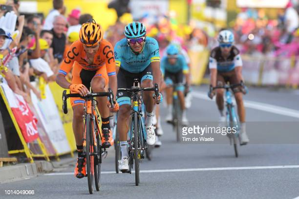Arrival / Pawel Piotr Cieslik of Poland and Team Ccc Sprandi Polkowice / Andrey Zeits of Kazahkstan and Astana Pro Team / during the 75th Tour of...