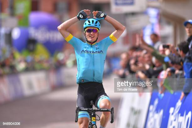 Arrival / Pello Bilbao of Spain and Astana Pro Team / Celebration / during the 42nd Tour of the Alps 2018 Stage 1 a 1346km stage from Arco to...