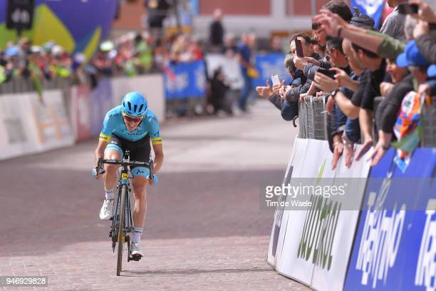 Arrival / Pello Bilbao of Spain and Astana Pro Team /Celebration / during the 42nd Tour of the Alps 2018 Stage 1 a 1346km stage from Arco to Folgaria...