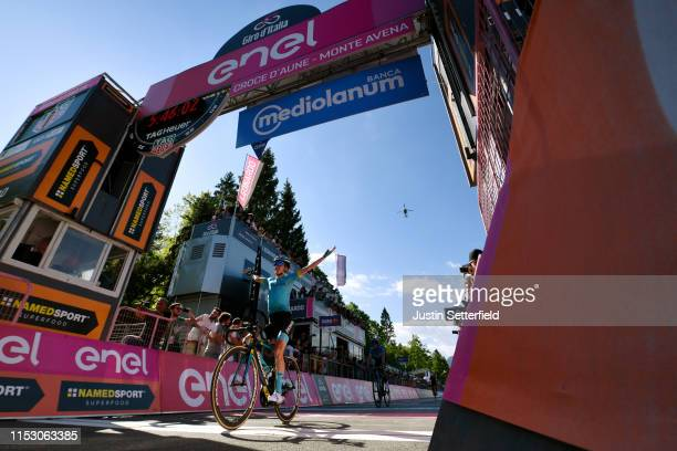 Arrival / Pello Bilbao of Spain and Astana Pro Team / Celebration / Mikel Landa Meana of Spain and Movistar Team / Landscape / during the 102nd Giro...