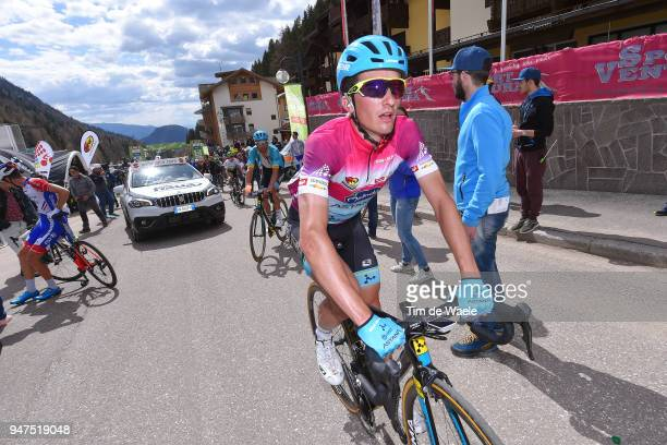 Arrival / Pello Bilbao of Spain and Astana Pro Team Purple Leader Jersey / during the 42nd Tour of the Alps 2018 Stage 2 a 1455km stage from Lavarone...