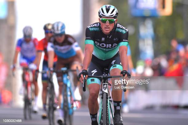 Arrival / Peter Kennaugh of Great Britain and Team Bora Hansgrohe /during the 9th Grand Prix Cycliste de Montreal 2018 a 1952km race from Montreal to...