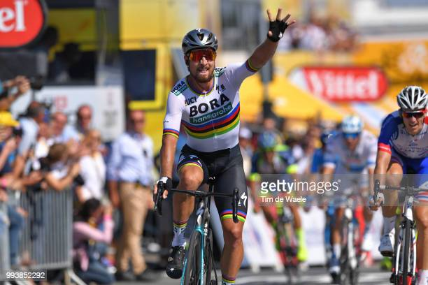 Arrival / Peter Sagan of Slovakia and Team Bora Hansgrohe Celebration / during the 105th Tour de France 2018, Stage 2 a 182,5km stage from...